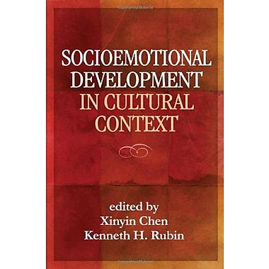 Socioemotional Development in Cultural Context, New Book (9781609181864)