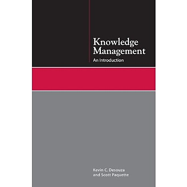 Knowledge Management: An Introduction, New Book (9781555707200)