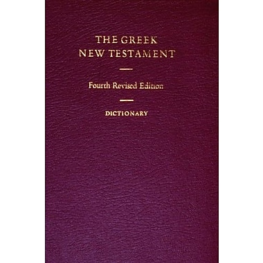 The Greek New Testament with Greek-English Dictionary (Ancient Greek Edition), Used Book (9781598561692)