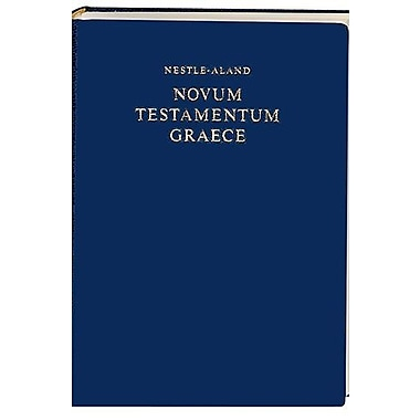 Nestle-Aland Novum Testamentum Graece (Greek Edition), New Book (9781598561722)