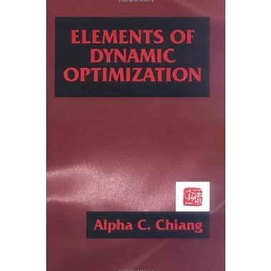 Elements of Dynamic Optimization, New Book (9781577660965)
