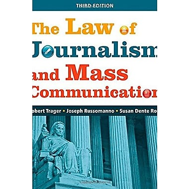 The Law of Journalism and Mass Communication, New Book (9781608716692)