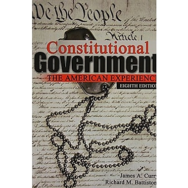 Constitutional Government: The American Experience, New Book (9780757590641)
