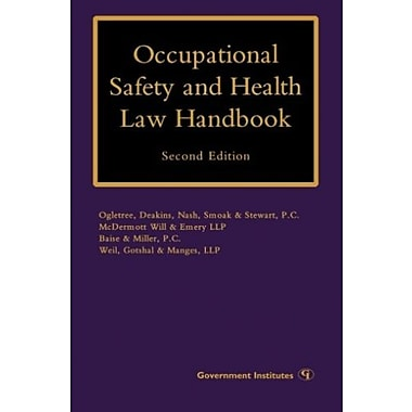 Occupational Safety and Health Law Handbook, New Book (9781605906690)