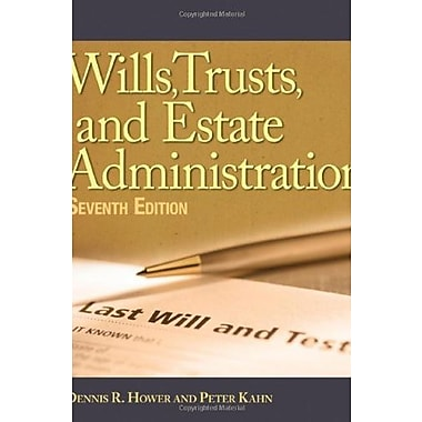 Wills, Trusts, and Estates Administration, New Book (9781111137786)