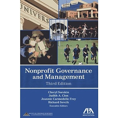 Nonprofit Governance and Management, New Book (9781616329754)