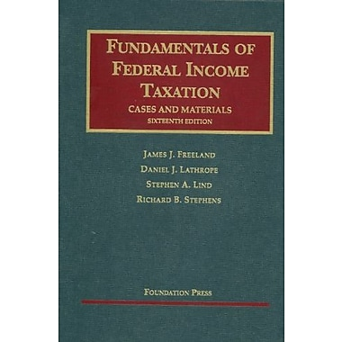 Fundamentals of Federal Income Taxation, 16th, New Book (9781609300081)