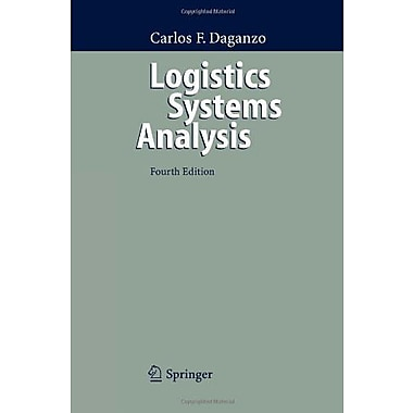 Logistics Systems Analysis, New Book (9783642062940)