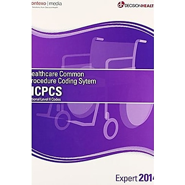 HCPCS National Level II Codes 2014: Expert, New Book (9781583837740)