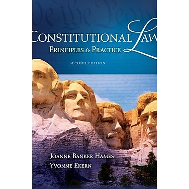 Constitutional Law: Principles and Practice, New Book (9781111648541)