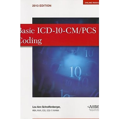 Basic ICD-10-CM/PCS Coding, New Book (9781584263685)