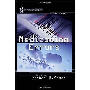 Medication Errors (Cohen, Medication Errors), (9781582120928)
