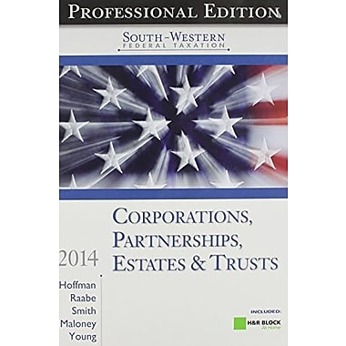 South-Western Federal Taxation 2014: Corporations, Partnerships, Estates & Trusts, New Book (9781285180755)