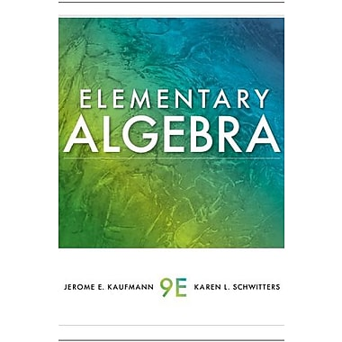 Student Solutions Manual for Kaufmann/Schwitters' Elementary Algebra, 9th, (9780538739566)