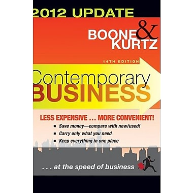 Contemporary Business: 2012 Update, Used Book (9781118061671)