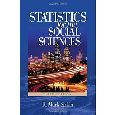Statistics for the Social Sciences, New Book (9781412905466)