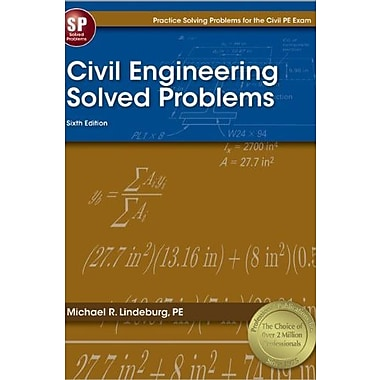 Civil Engineering Solved Problems, New Book (9781591263432)