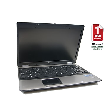 "Refurbished HP 6550B, 15.6"" laptop, Intel Core i5 2.4 GHz, 4GB Memory, 250GB Hard Drive, DVDRW, Windows 7 Professional 64bit"