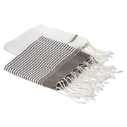 Scents and Feel Lurex Fouta Hand Towel (Set of 2); Mink / White