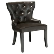 Home Loft Concept Emmanuel Leather Accent Chairs (Set of 2)