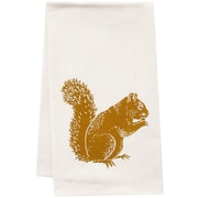 Artgoodies Organic Squirrel Block Print Tea Towel