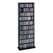 Leslie Dame Deluxe Multimedia Storage Rack; Black