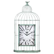 Cape Craftsmen Metal and Wood Bird Cage Clock
