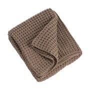 Saro Knitted Design Throw Blanket; Shiitake