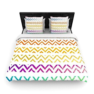 KESS InHouse Chevron Add by Sreetama Ray Woven Duvet Cover; Queen WYF078277528597