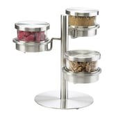 Cal-Mil Mixology 3 Tier Jar Holder w/ Lid; Stainless Steel