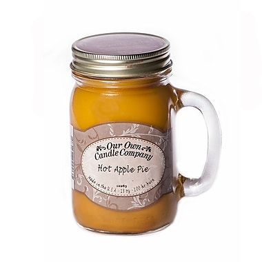 OOCC Soy-Based Mason Jar Candle, 13oz., Apple Pie Scent, 6/Pack