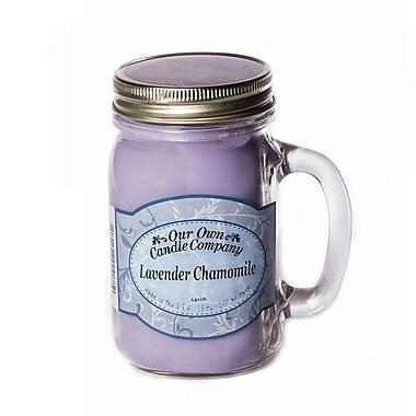 OOCC Soy-Based Mason Jar Candle, 13oz., Lavender Chamomile Scent, 6/Pack