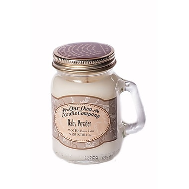 OOCC Soy-Based Mini Mason Jar Candle, Baby Powder Scent, 8/Pack