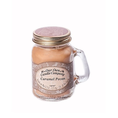 OOCC Soy-Based Mini Mason Jar Candle, Caramel Pecan Scent, 8/Pack