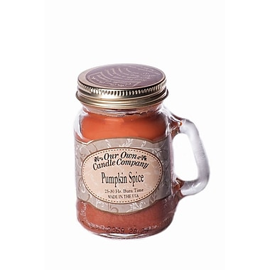 OOCC Soy-Based Mini Mason Jar Candle, Pumpkin Spice Scent, 24/Pack