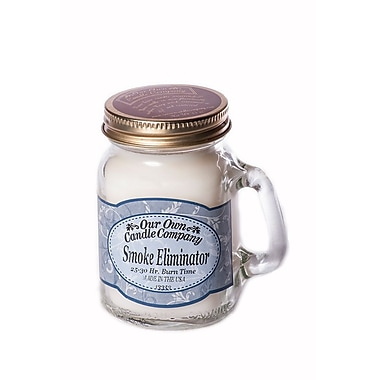 OOCC Soy-Based Mini Mason Jar Candle, Smoke Eliminator, 8/Pack