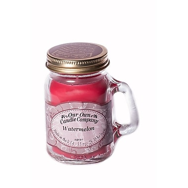OOCC Soy-Based Mini Mason Jar Candle, Watermelon Scent, 12/Pack