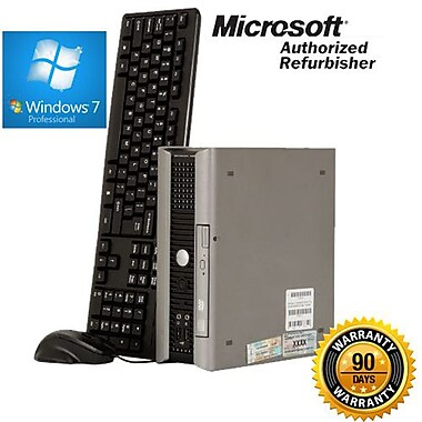 Dell Optiplex (755) Refurbished Desktop, 3.16 GHz, Intel Core 2 Duo, 4GB RAM, 320GB HDD, Windows 7 Professional 64-bit, English