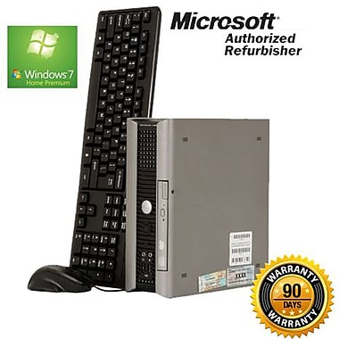 Dell Optiplex (760) Refurbished Desktop, 2.66 GHz Intel Core 2 Duo, 4GB RAM, 160GB HDD, Windows 7 Home Premium 64-bit, English
