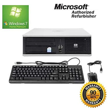 HP Compaq (DC5800) Refurbished Desktop, 2.66 GHz Intel Core 2 Duo, 4GB RAM, 500GB HDD, Windows 7 Home Premium 64-bit, English