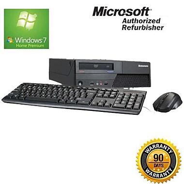 Lenovo (M58) Refurbished Desktop, 2.33 GHz Intel Core 2 Quad, 4GB RAM, 500GB HDD, Windows 7 Home Premium 64-bit, English