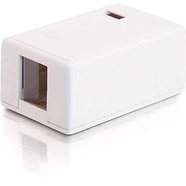 C2G 3831 1 Port Surface Mount Box, White