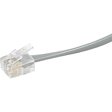 C2G 9593 50' Modular Telephone Cable, Silver