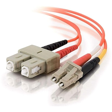 C2G 3315 Duplex Multimode Fiber Optic Cables, Orange