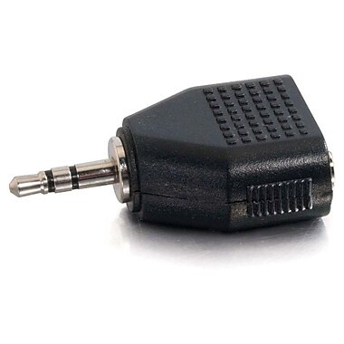 C2G 40641 Stereo Male to Dual Stereo Female Adapter