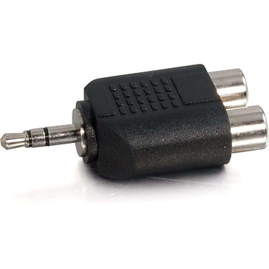 C2G 40645 Stereo Male to Dual RCA Female Audio Adapter
