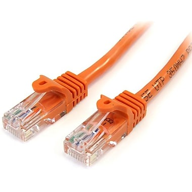 StarTech.com® 45PATCH3OR 3' Cat 5e Snagless Patch Cable, Orange