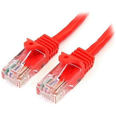 StarTech.com® 45PATCH2RD 2' Cat 5e Snagless Patch Cable, Red