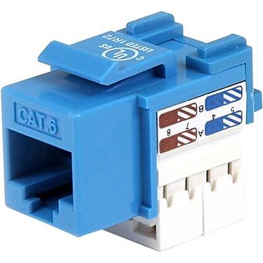 Startech.ComMD – Connecteur Keystone Cat 6 Rj45 bleu, type 110