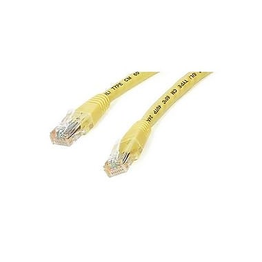 StarTech.com® C6PATCH1YL 1' Cat 6 Molded Patch Cable, Yellow
